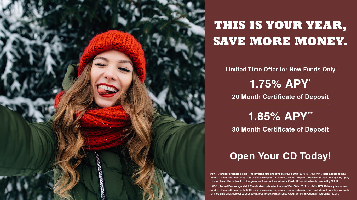 First Alliance Credit Union Certificate of Deposit Special Rates