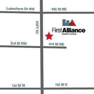 first Alliance Credit Union Stewartville MN Location