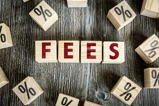 "Blocks spelling ""Fees"" 