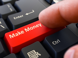 Red Make Money button on keyboard.