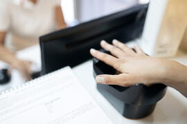 Hand on Palm ID scanner
