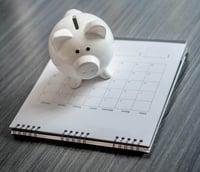 Pig Bank on Calendar | First Alliance Credit Union