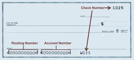 Check with Routing and Numbers pointed out | First Alliance Credit Union