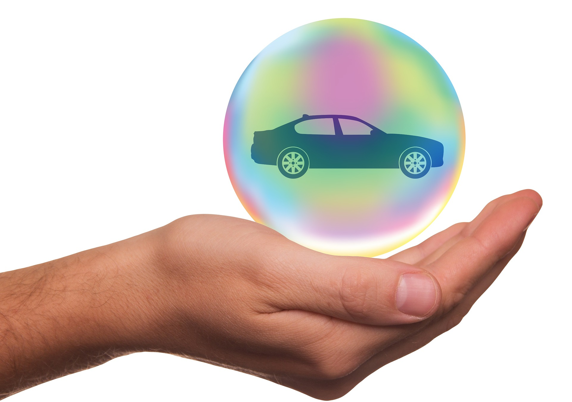 car in bubble   First Alliance Credit Union