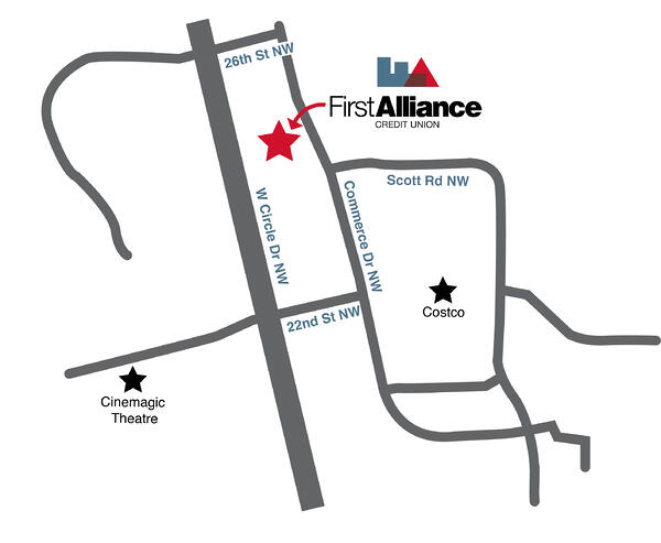 First Alliance Credit Union NW Branch Location 2019