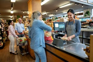 Busy Grocery Store | First Alliance Credit Union