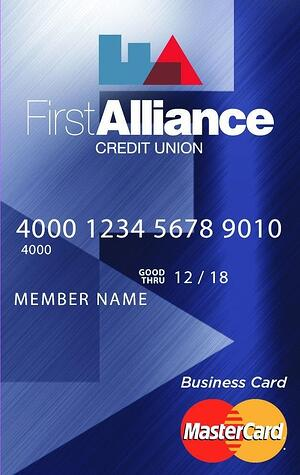 first alliance business credit card
