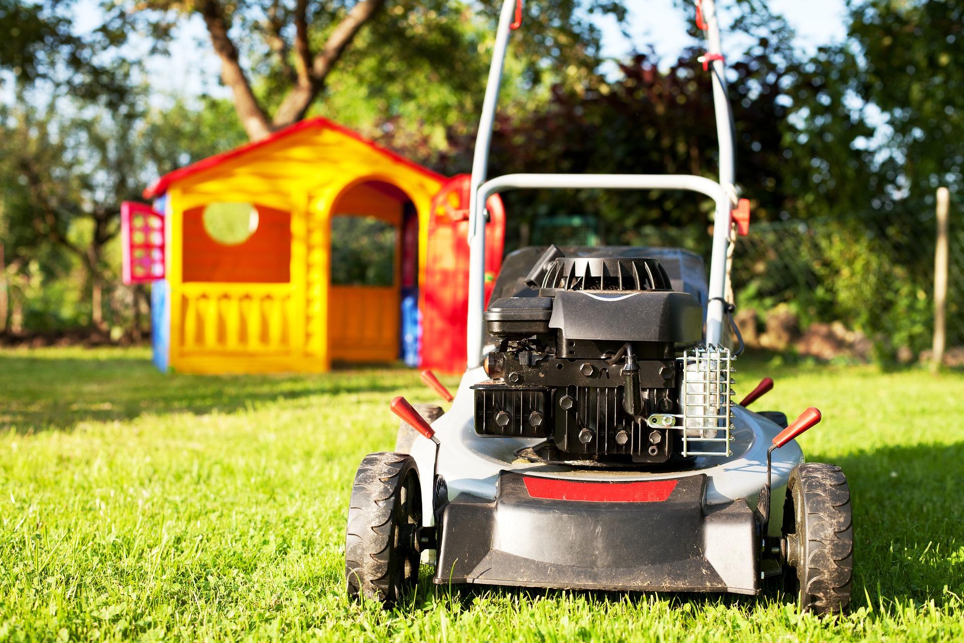 lawn, lawncare, lawn mower, grass, kids