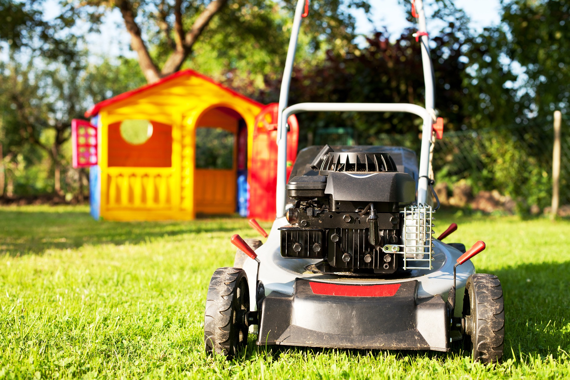 lawn, lawncare, lawn mower, grass, kids