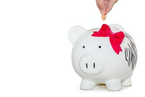Pig bank with  bow | First Alliance Credit Union